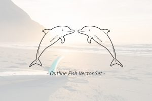8-outline-sea-fish-vector-sett