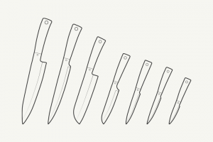 Vector-Outline-kitchen-knives