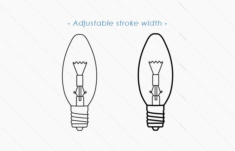 adjustable-stroke-width-lamp-bulb-vectors1