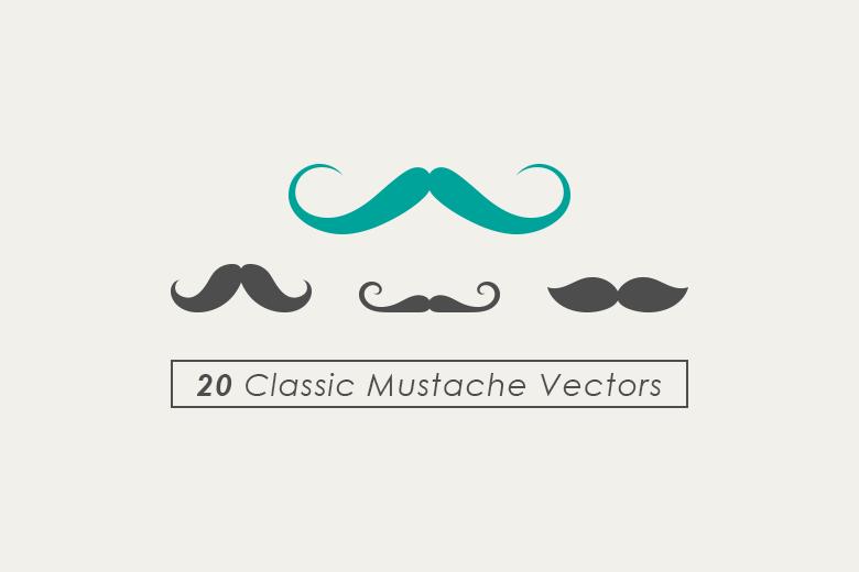 classic-mustache-vector-set