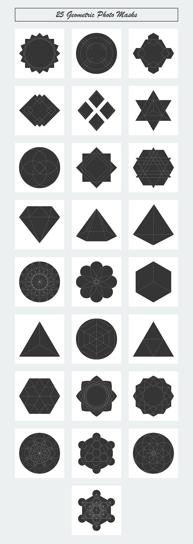 geometric-photo-masks