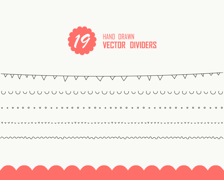19 hand drawn text dividers