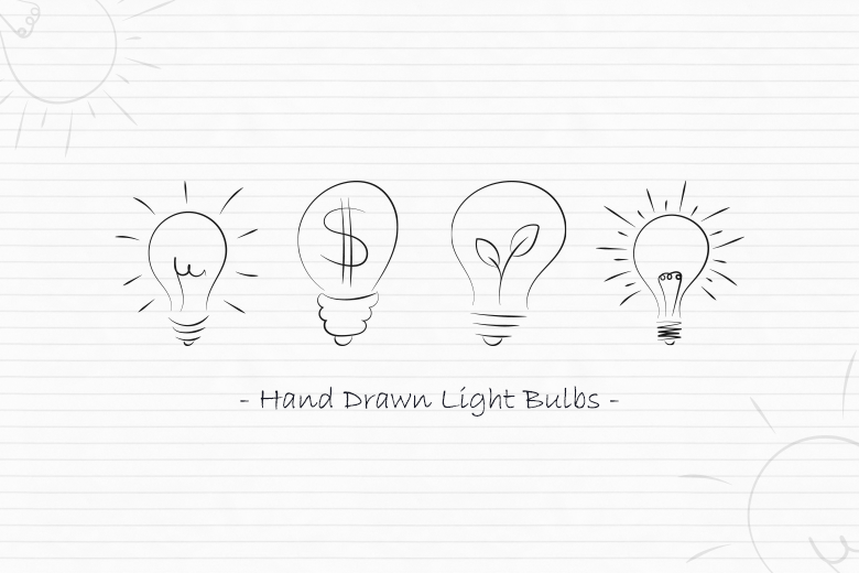 hand-drawn-vector-light-bulbs