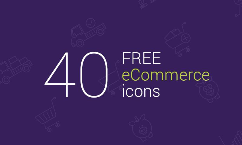 Freebie: 40 eCommerce Vector Icons