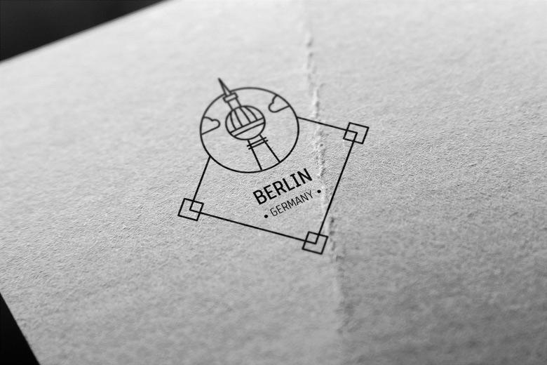 berling-germany-2-stamp-vector
