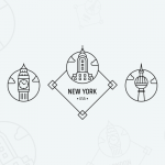 Freebie: Outline City Badges & Stamps