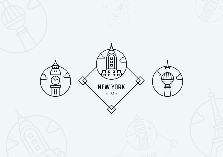 city-badges-landmark-stamps-freebie