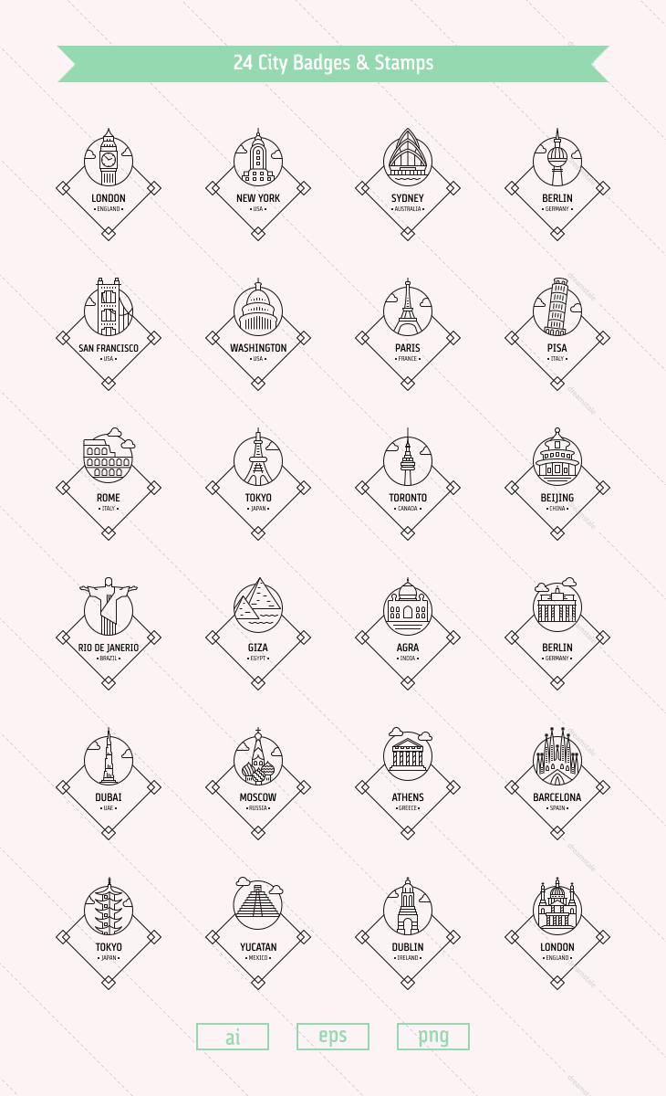 city-vector-badges-stamps-landmarks