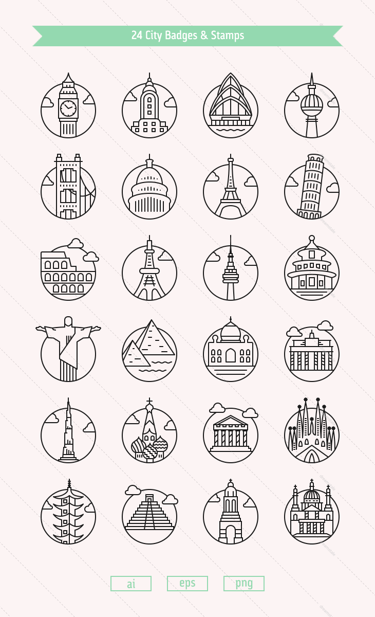 city-vector-badges-landmarks-w