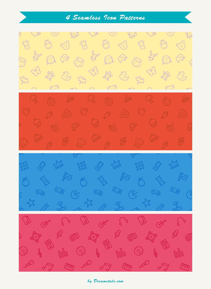 Freebie: Seamless Icon Patterns