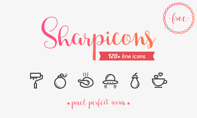 Sharpicons-120-Free-Line-Vector-Icons