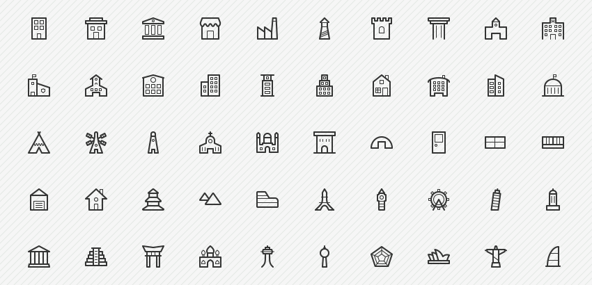 building-landmarks-50-icons-sharpicons