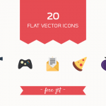 Freebie: 20 Flat Vector Icons