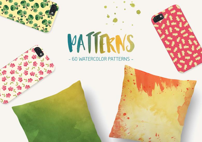 30-Watercolor-Seamless-Patterns
