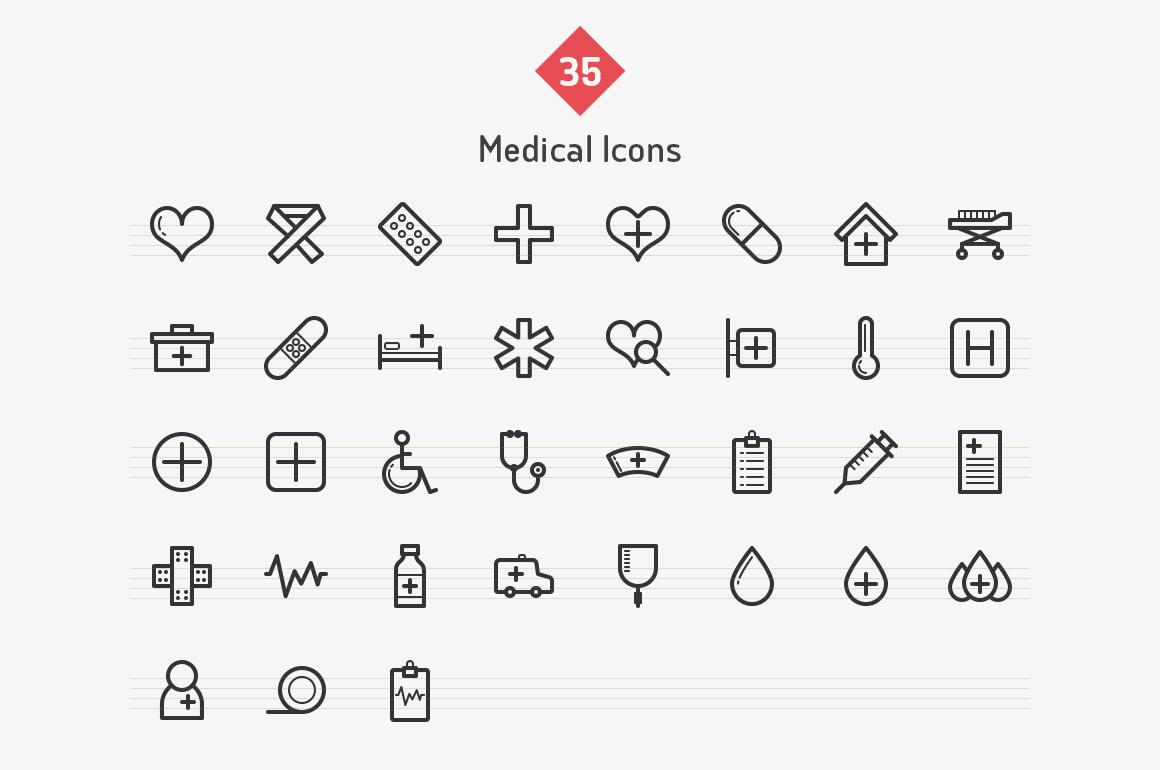 35-medical-line-icons-sharpicons-list