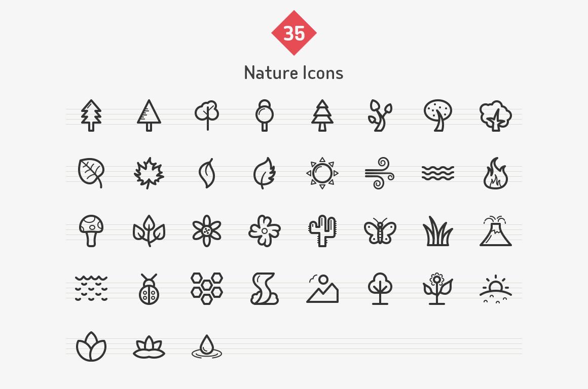 35-nature-line-icons-sharpicons-list