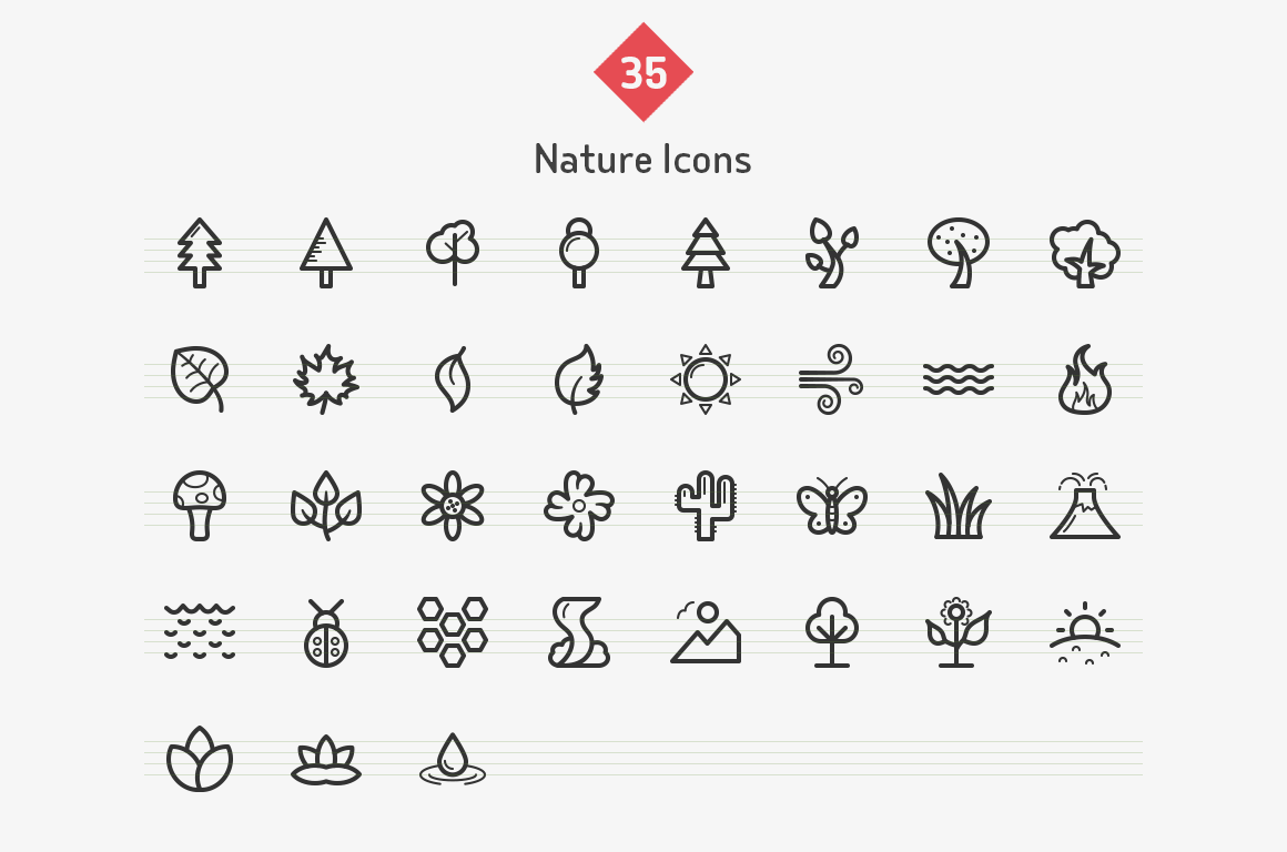 35-nature-line-icons-sharpicons-list