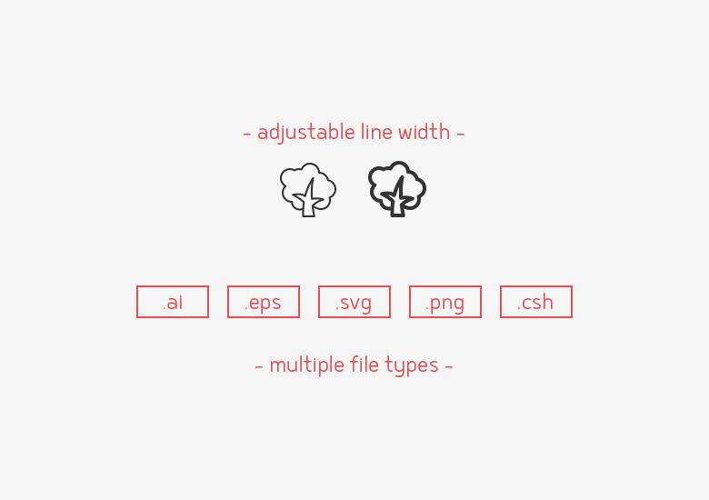 35-nature-line-icons-sharpicons-width