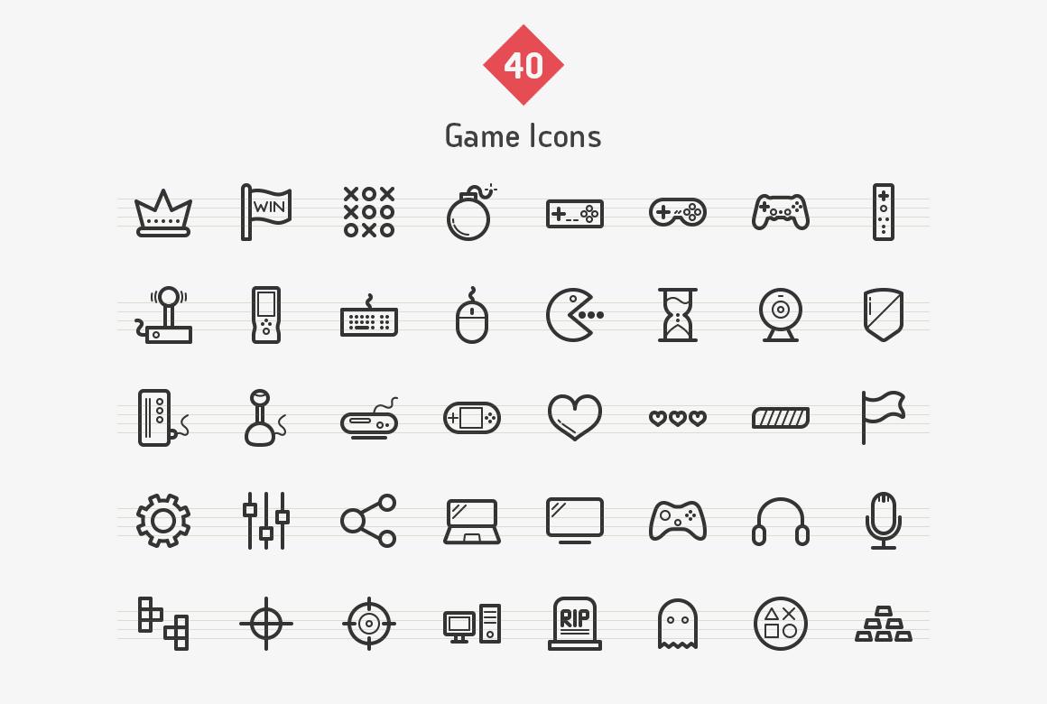40-game-line-icons-sharpicons-list
