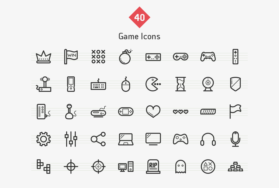 40-game-line-icons-sharpicons-list