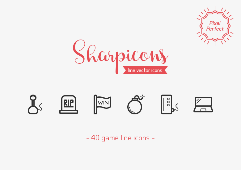 40-game-line-icons-sharpicons-preview