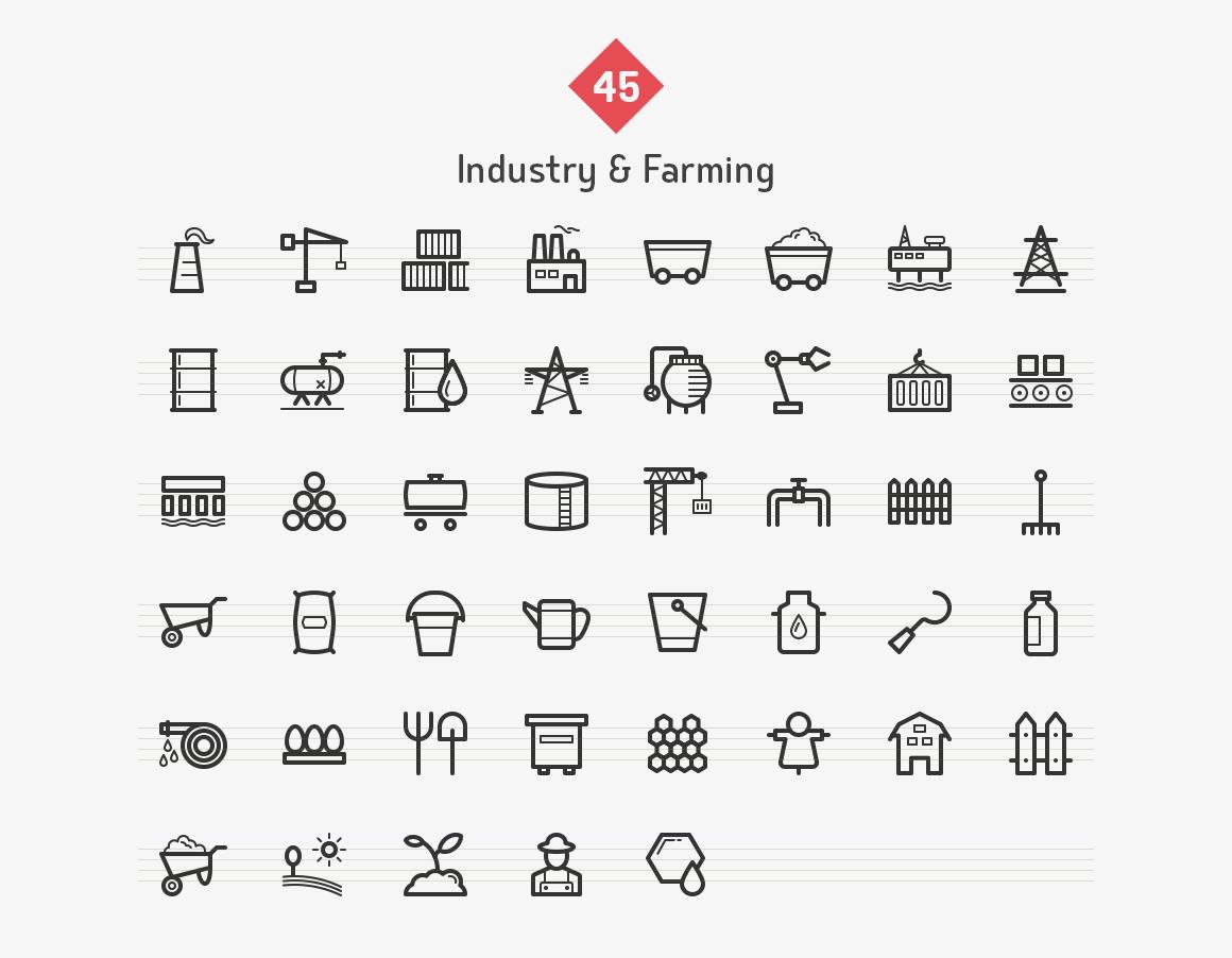 45-industry-farming-line-icons-sharpicons-list