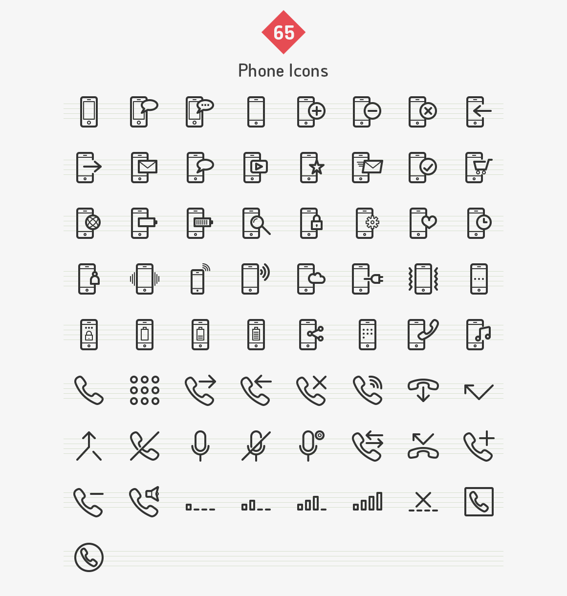 65-phone-line-icons-sharpicons-list