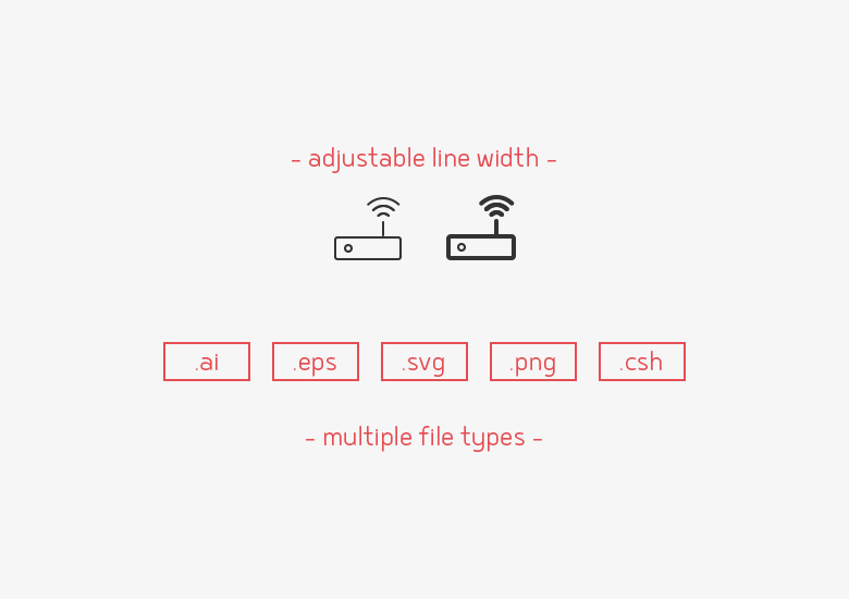 75-network-database-line-icons-sharpicons-width