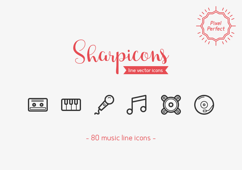 80-music-line-icons-sharpicons-preview