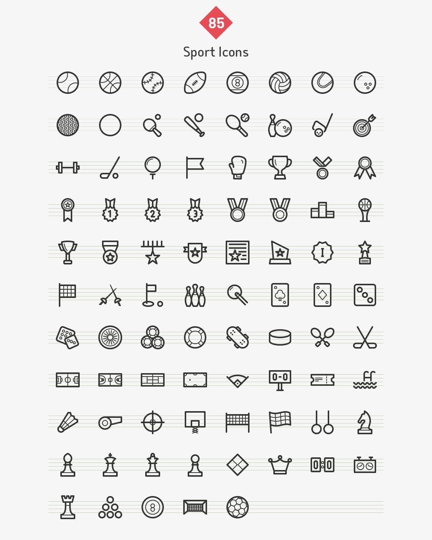 85-sport-line-icons-sharpicons-list