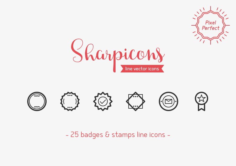 badges-stamps-line-vector-icons-sharpicons