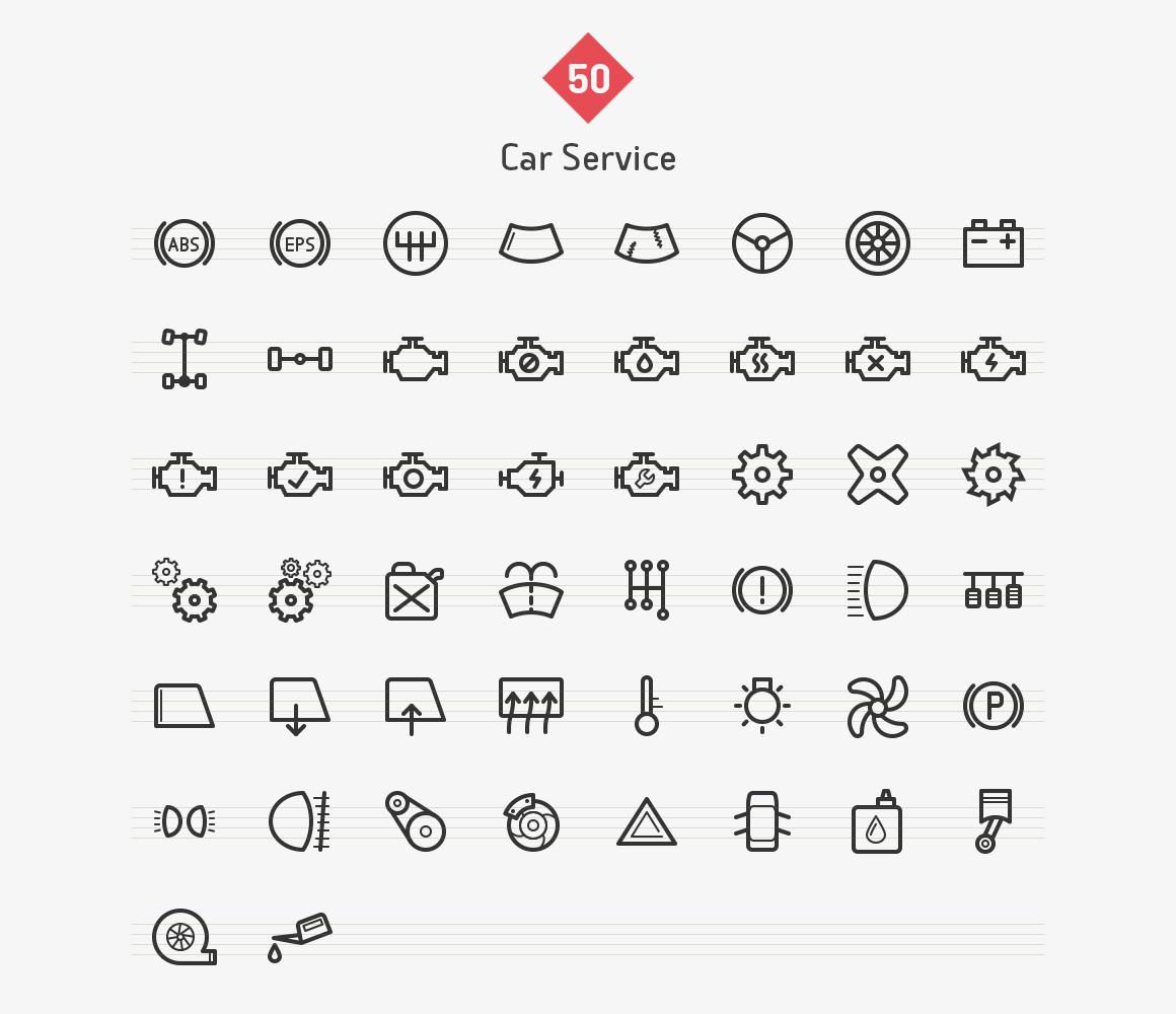 car-service-line-icons-sharpicons-list
