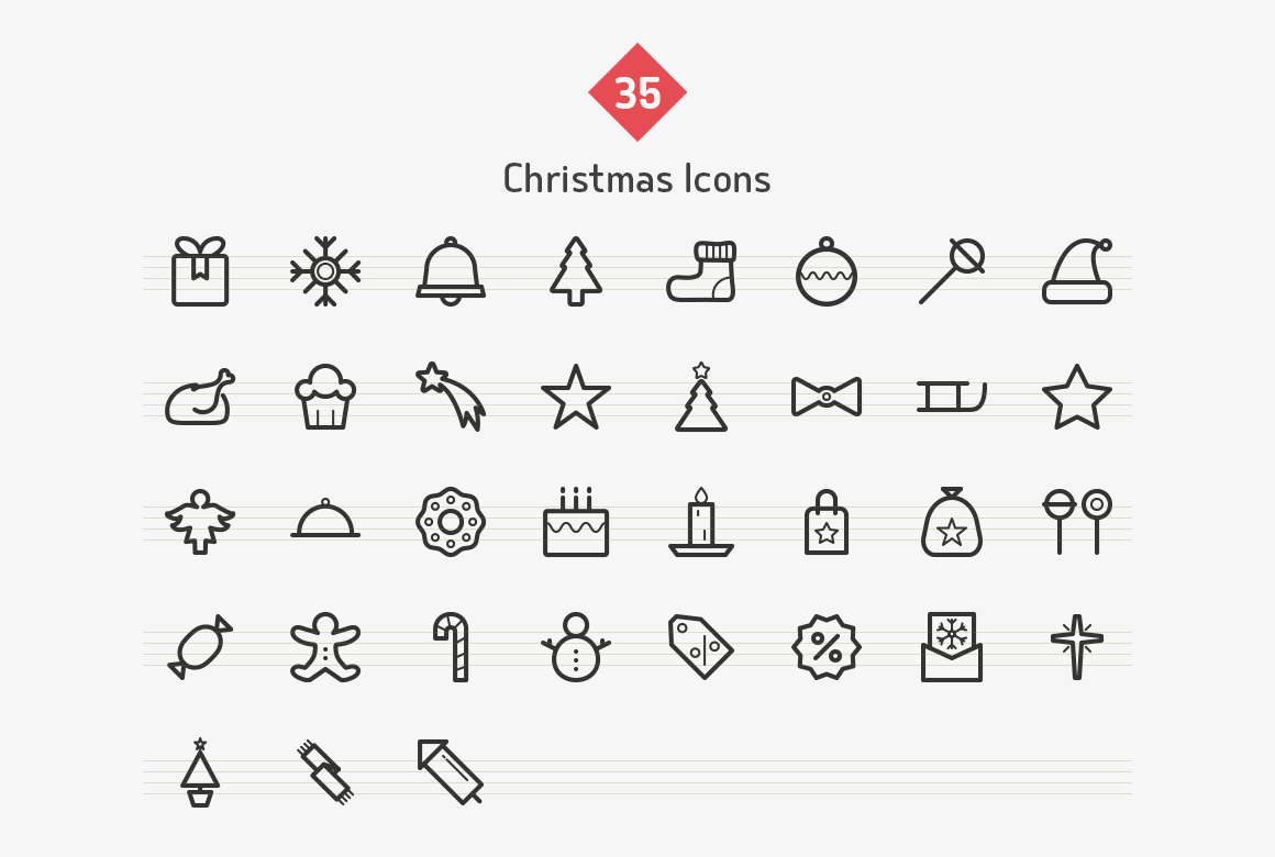 christmas-line-vector-icons-sharpicons-list