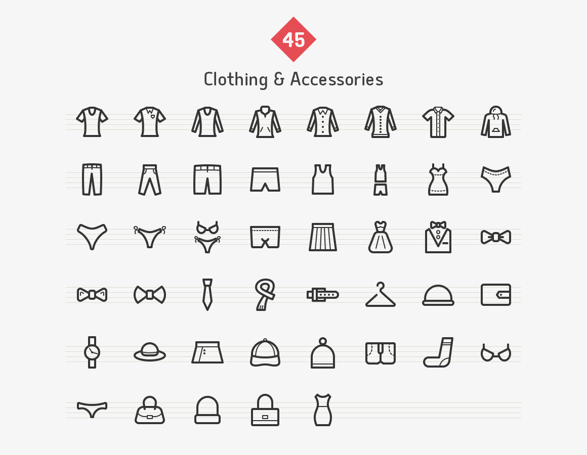 clothes-accessories-line-vector-icons-sharpicons-list
