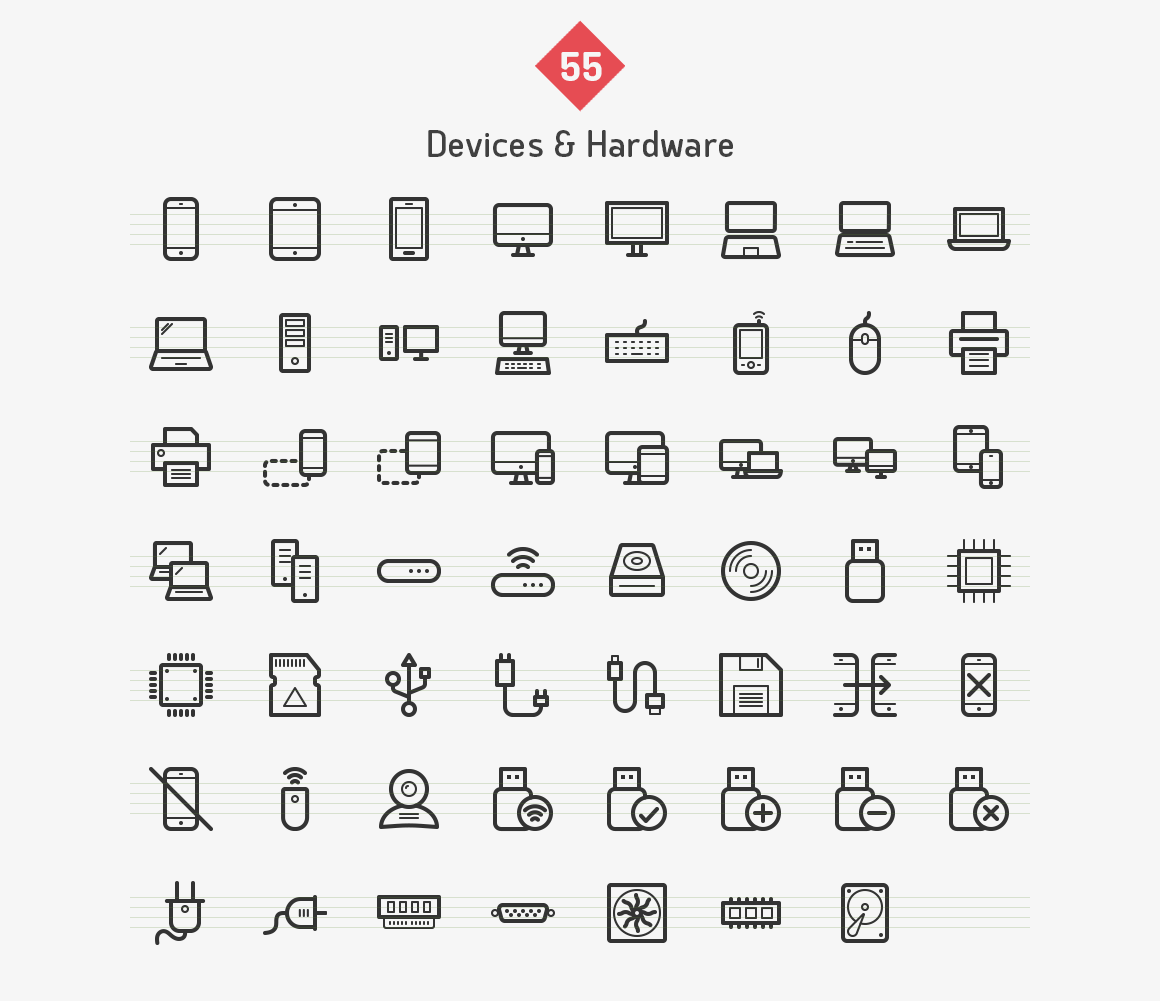 devices-hardware-line-vector-icons-sharpicons-list