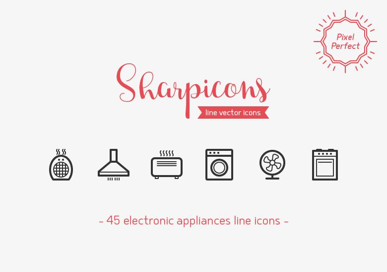 electronic-appliances-line-vector-icons-sharpicons