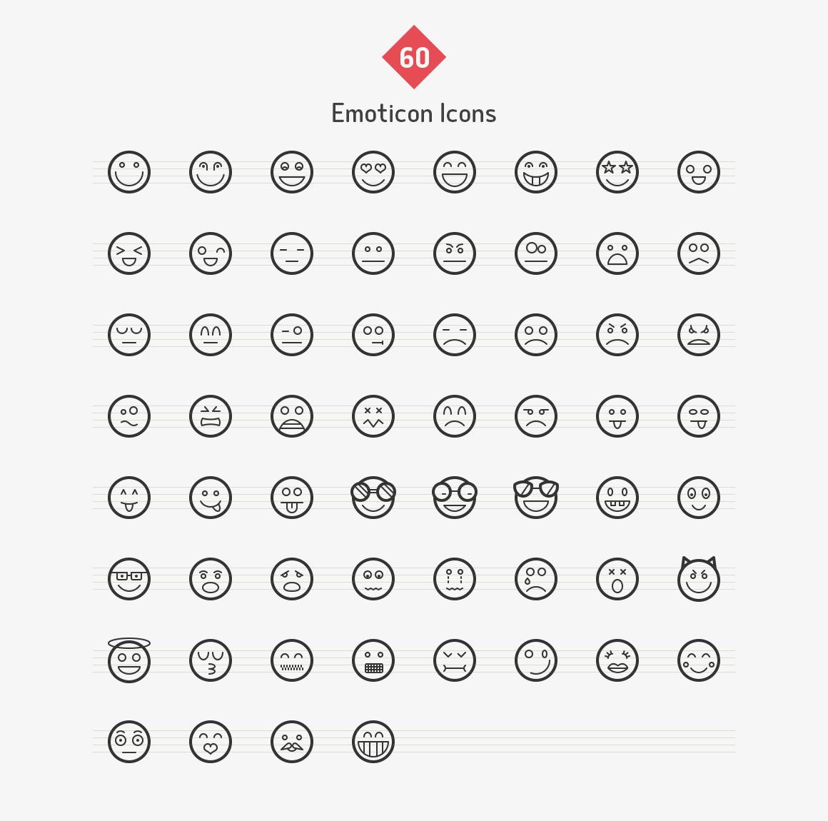 emoticon-line-icons-sharpicons-list