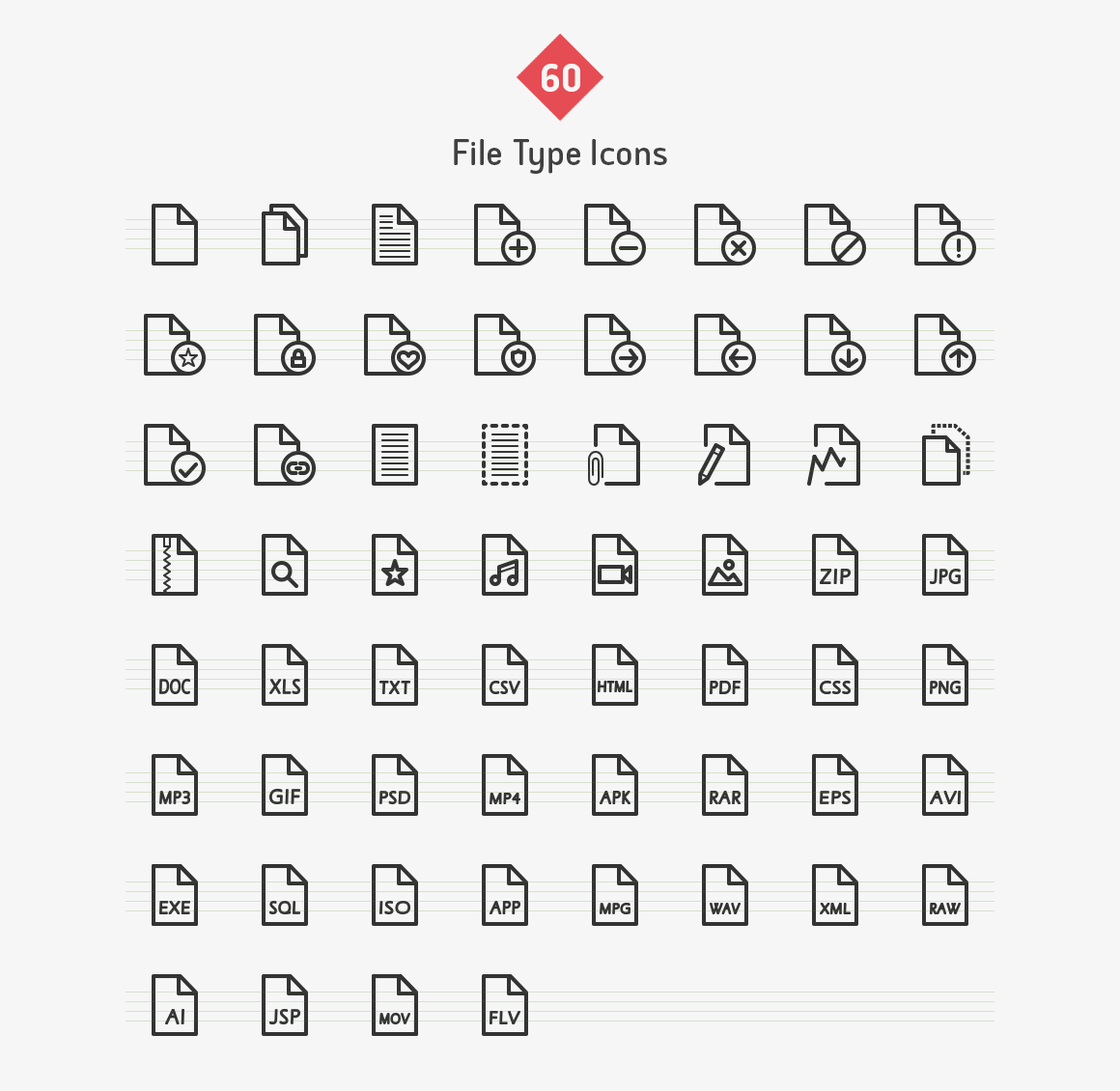 file-type-line-vector-icons-sharpicons-list