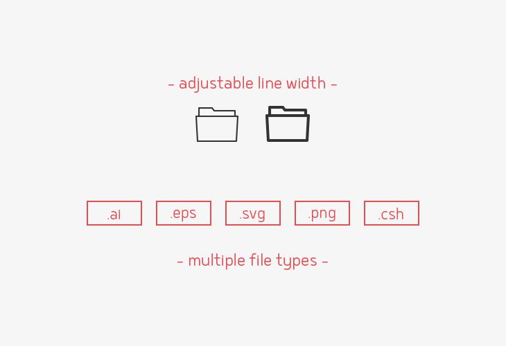 folder-line-vector-icons-sharpicons-line-width