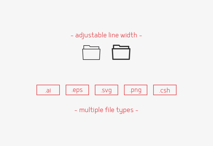folder-line-vector-icons-sharpicons-line-width