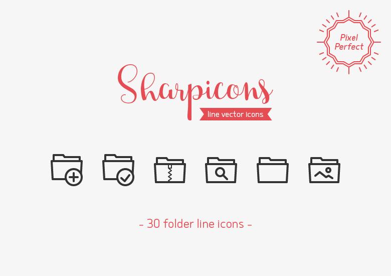 folder-line-vector-icons-sharpicons