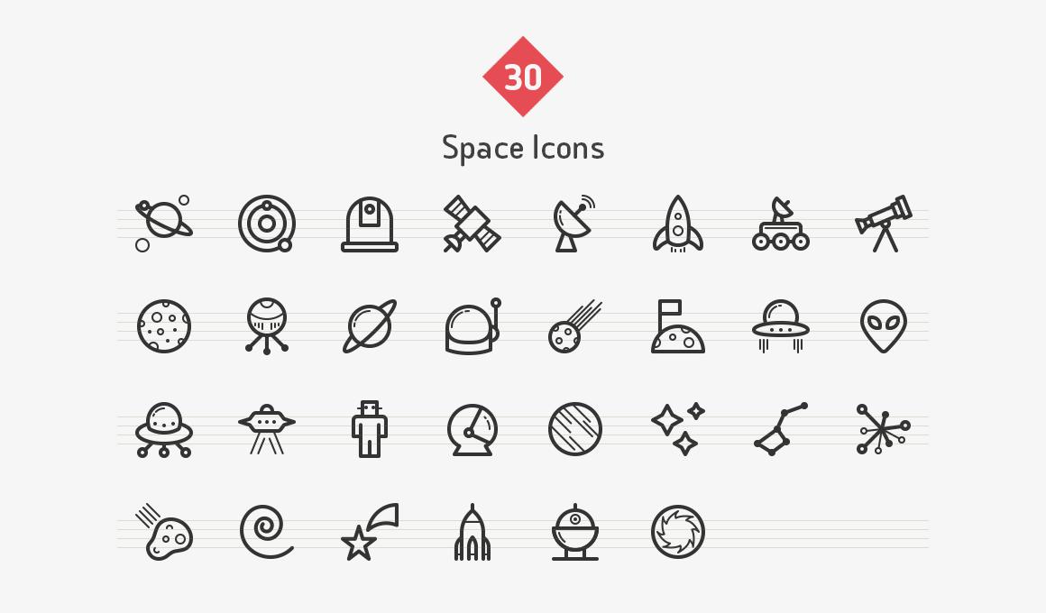 space-line-icons-sharpicons-list