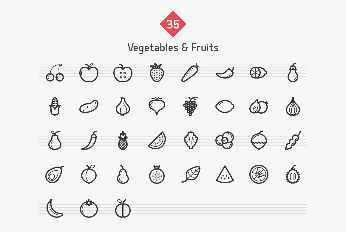 vegetables-fruits-line-icons-sharpicons-list