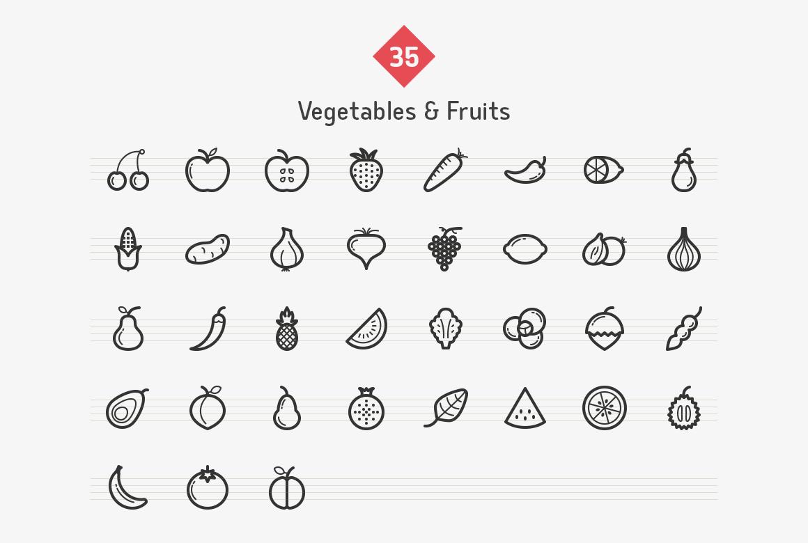 vegetables-fruits-line-icons-sharpicons-list