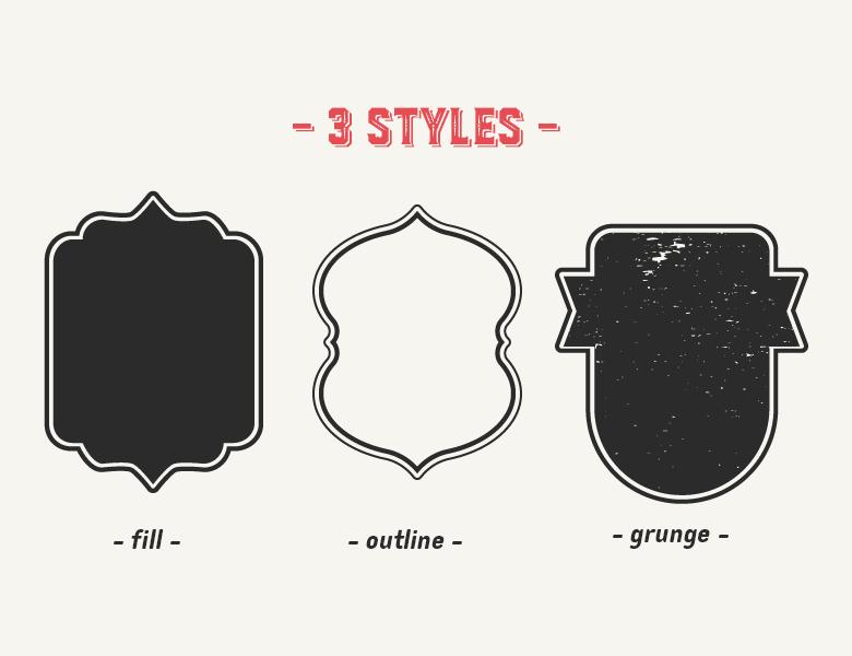 vitnage-vector-frames-2-styles