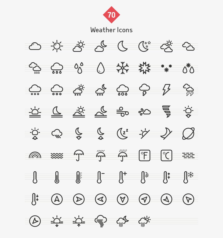 weather-line-icons-sharpicons-list