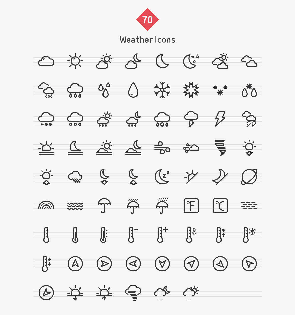 weather-line-icons-sharpicons-list