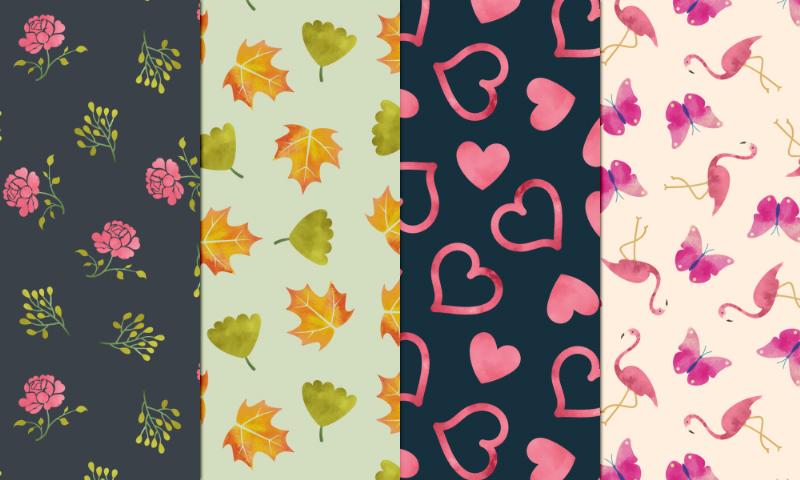 Freebie: Watercolor Seamless Patterns