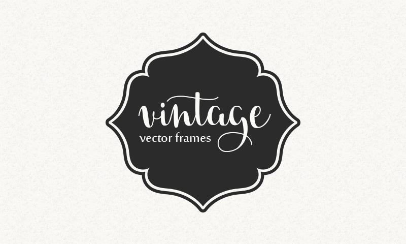 Freebie: Vintage Vector Frames Set