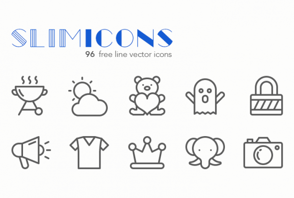 Slimicons-96-free-line-icons